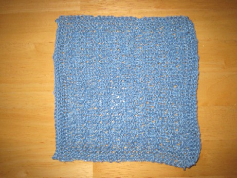 Jen's first hemp washcloth