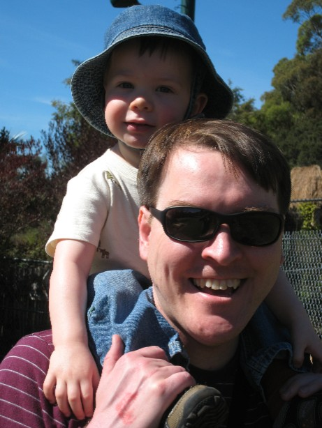 Piggyback ride at the Oakland Zoo