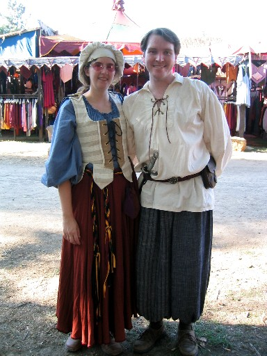 Jen and Gary in garb