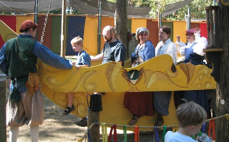 a ride at the Renaissance Faire